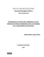 Distribución Y Estructura Horizontal De Seis Especies De